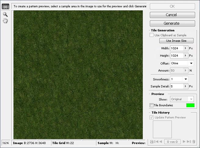 First reslut in Photoshop´s Pattern Filter