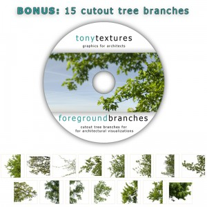 Cutout Tree Branches for Exterior Architectural Visualization