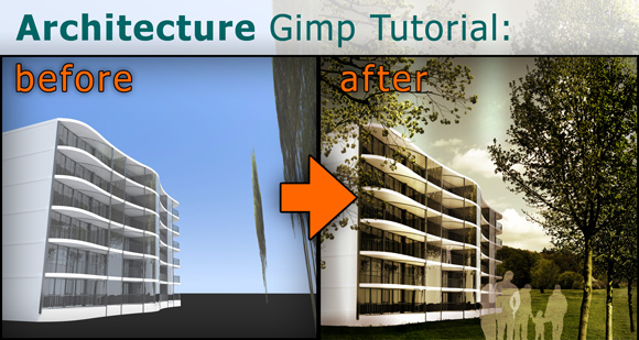 00_Gimp-Tutorial-Add-Trees-People-Architecture-Rendering