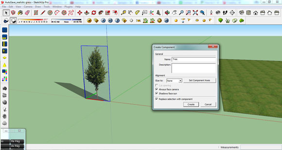 tree component in sketchup