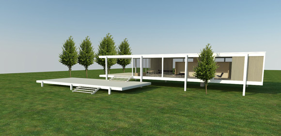 vray architecture outdoor scene sketchup