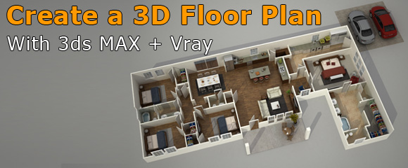 architecture visualization 3D floor plan