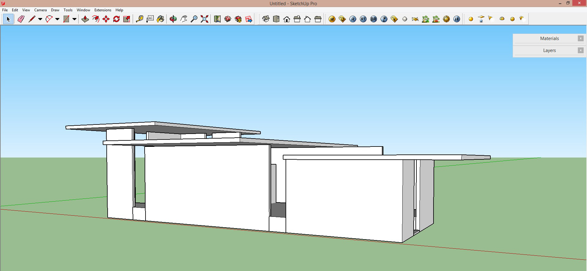 How to create a quick sectional architecture drawing in for Architectural design with sketchup