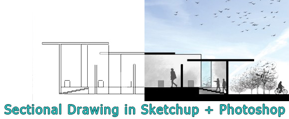 Sectional-Drawing-Sketchup-Photoshop-Architecture-Tutorial