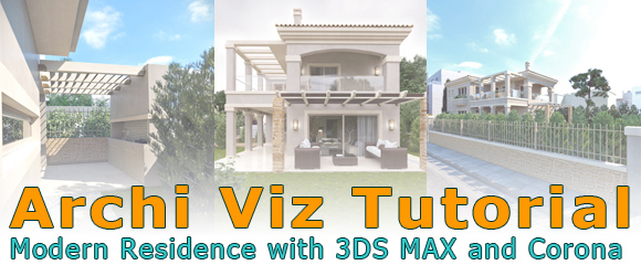 architectural visualization tutorial modern residence with 3ds max