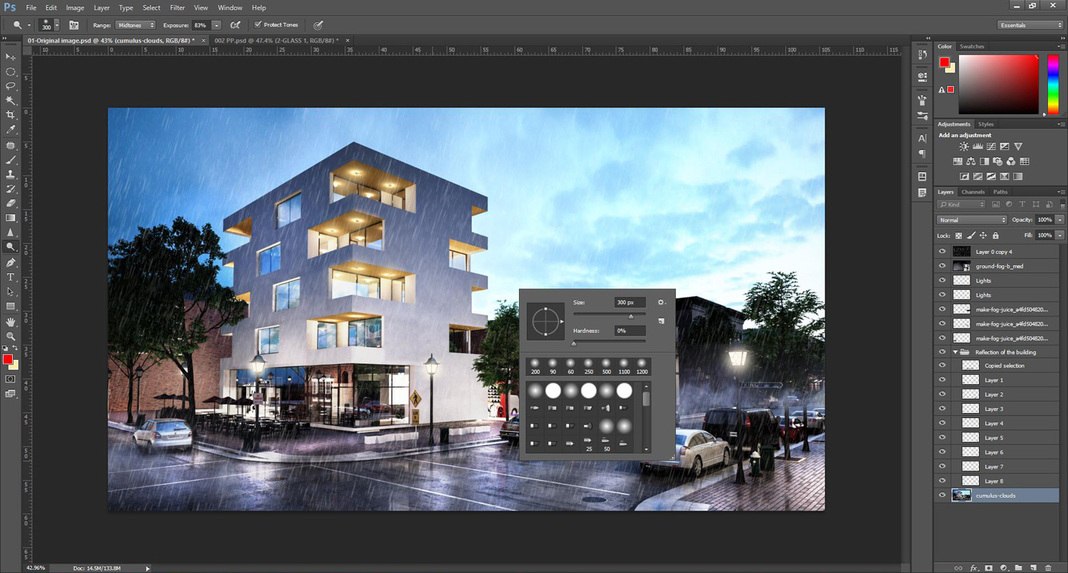 how to add a window look to photoshop