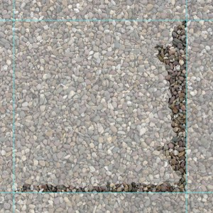 Bottom and right new border of the pebble texture