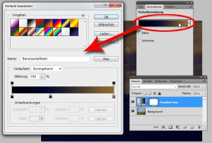 Edit the gradient of the adjustment layer