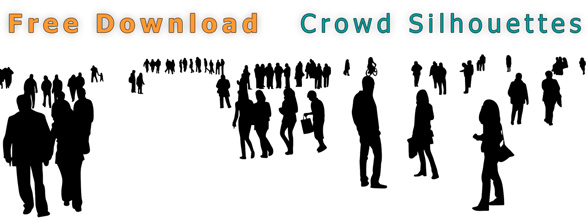 People-Crowd-Silhouettes-Architecture_Free-Download