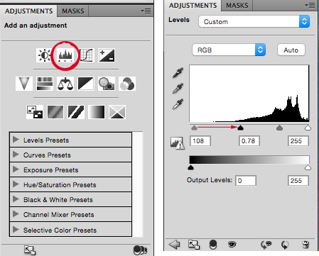 Level Adjustments in Photoshop