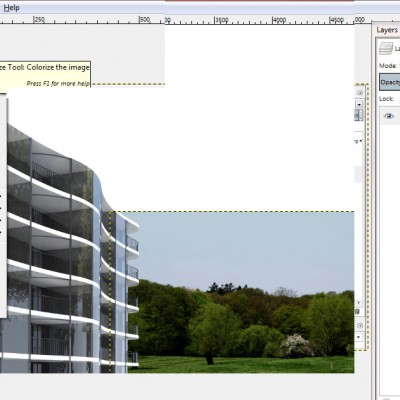 15_Colorize-the-architectural-rendering-in-Gimp