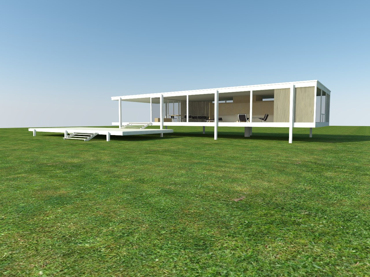 Architecture Rendering Quick Realistic Grass in Sketchup Tutorial