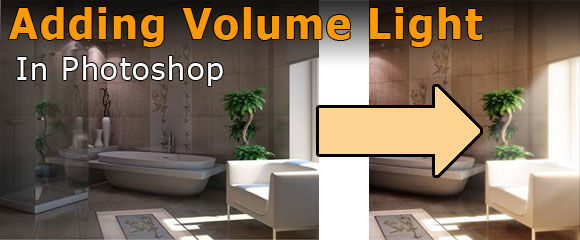 Tutorial How to create volume light in photoshop architecture rendering