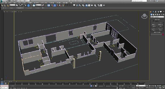 extruded floor plan walls for 3d rendering