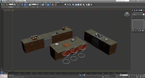 3d kitchen model furniture