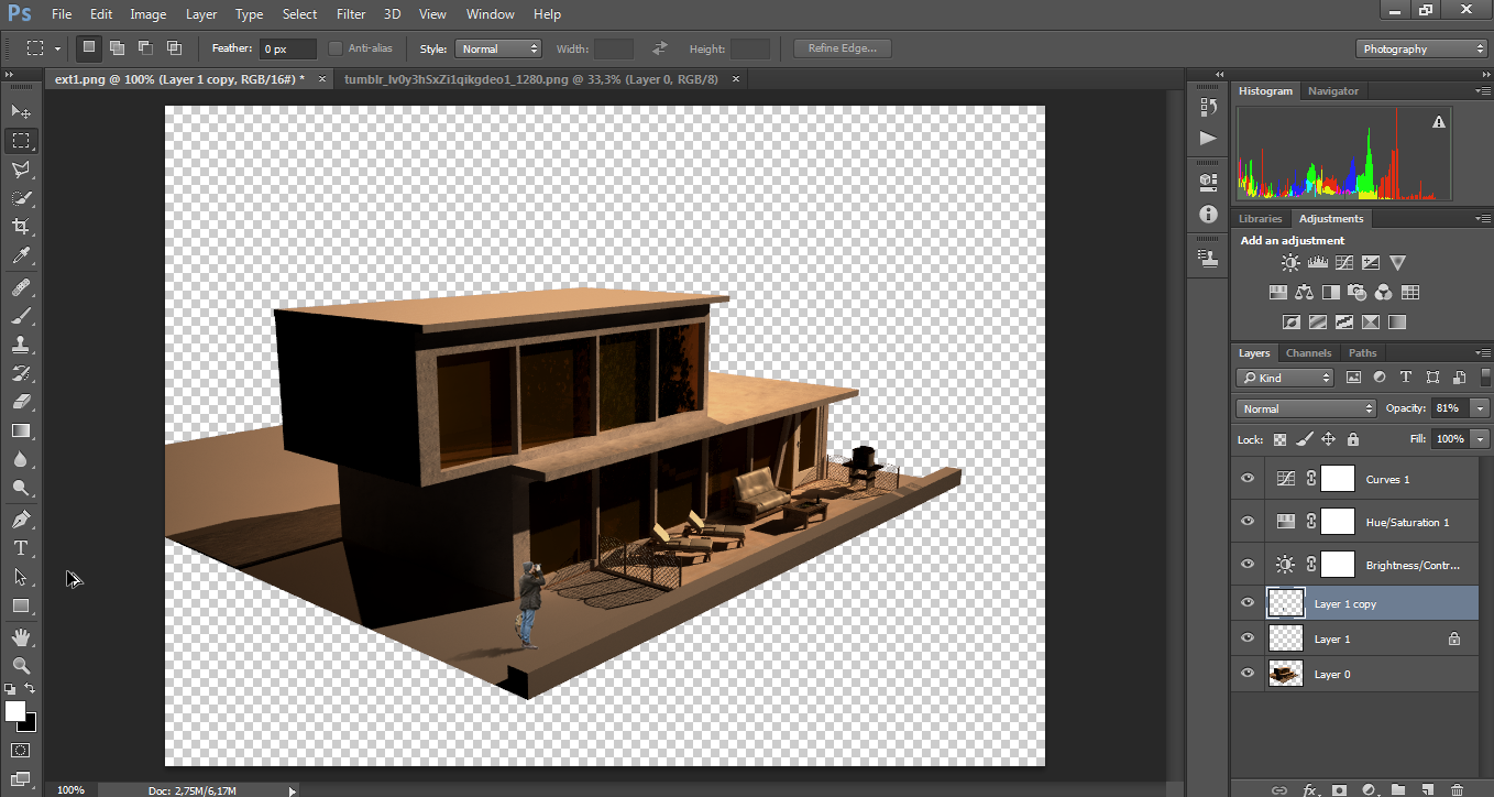 How to create shadows in photoshop for architectural for 3d building creator
