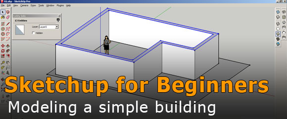 How to create a building in SketchUp
