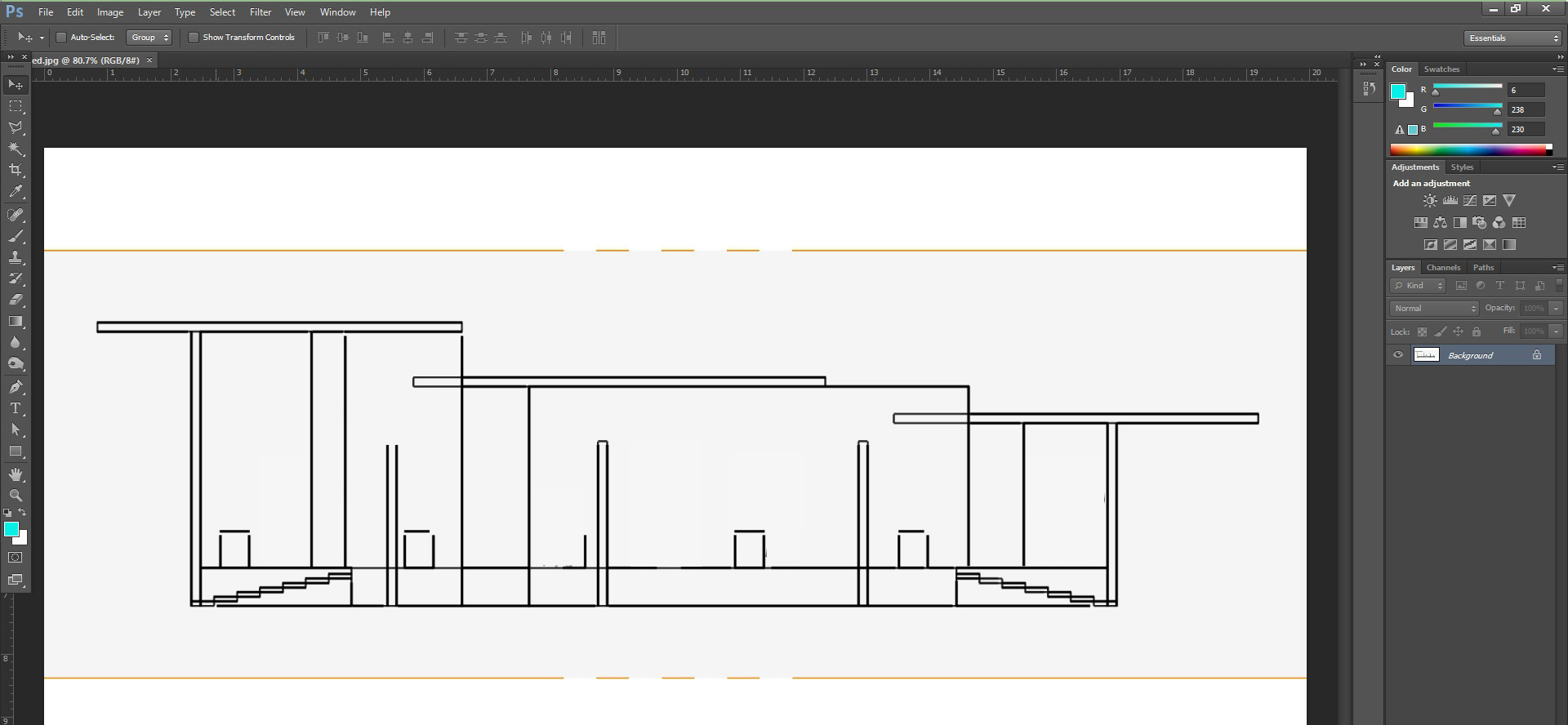 How to Create a Quick Sectional Architecture Drawing in