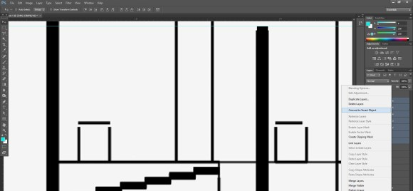 18. Always conert the repeating layers into smart objects, like stair steps_580