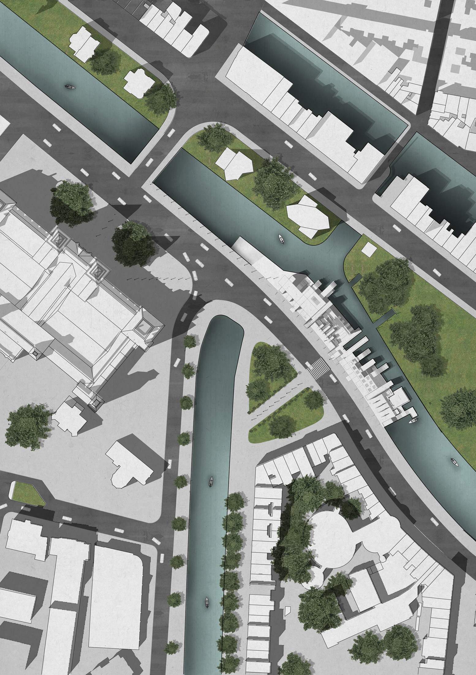 0bbabfe5b2a3b Adding shadow to the water surface of urban design visualization