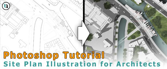 How to make a site plan rendering in photoshop