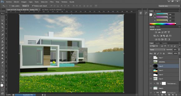 architecture visualization tutorial in photoshop