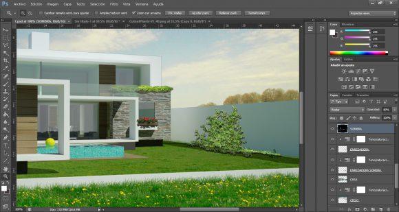 Tutorial Photoshop Post Production Architecture Visualization
