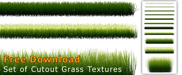 Set of PNG Grass Elements with transparent background